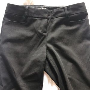 Black Express Columnist Pants with pockets